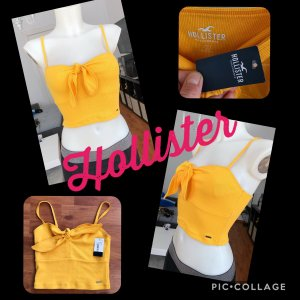 Gelbes Hollister Cropped Top XS