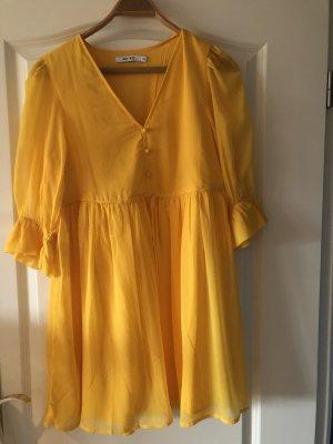 Nakd Szyfonowa sukienka złotopomarańczowy