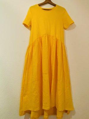Zara Abito cut out giallo-arancione chiaro