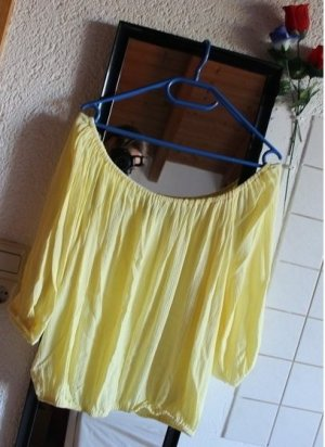 Gelbes lockeres Carmen Shirt, Gr. 38