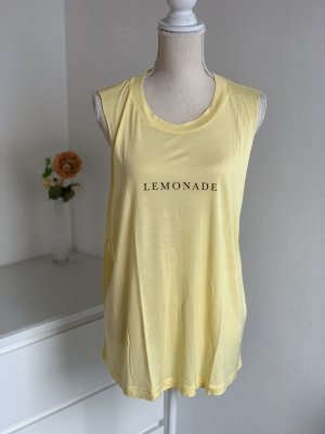 "Gelbes Long Top ""Lemonade"" von Gina Tricot Gr. XL (L) NEU"