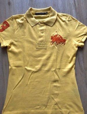 Gelbes Ralph Lauren Poloshirt bestickt
