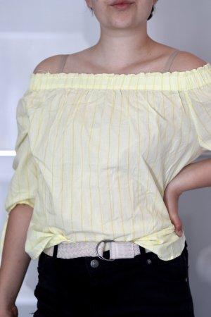 H&M L.O.G.G. Top asymétrique jaune primevère-jaune clair