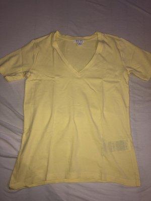 Amisu Camiseta Básico amarillo pálido