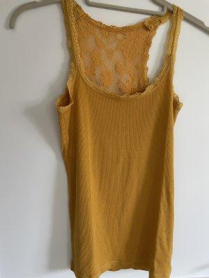 Crochet Shirt gold orange