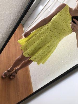 Swing Abito linea A giallo neon
