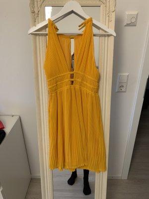 H&M Robe découpée jaune-orange doré