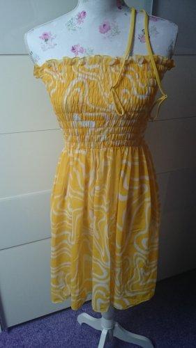 Apart Strandkleding geel-wit
