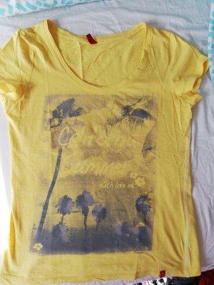 gelbes, sommerliches T-Shirt