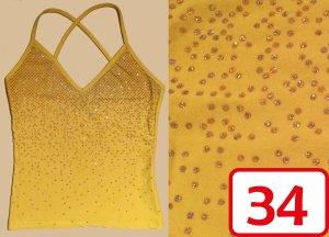 gelbes Spagetti-Top mit Cross-Back-Träger