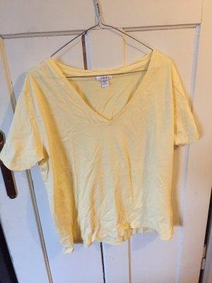 Amisu T-shirt bladożółty