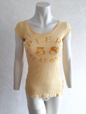 H&M L.O.G.G. Koszulka o kroju podkreślającym sylwetkę żółty Bawełna