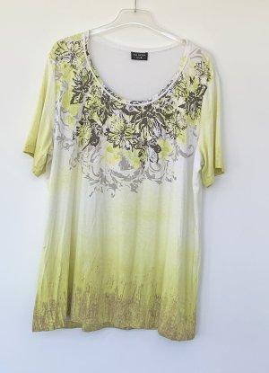 Via appia due Camicia fantasia giallo neon-grigio-verde Viscosa