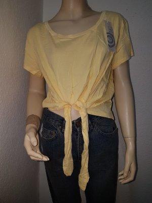 AJC Koszula o skróconym kroju jasnożółty-żółty