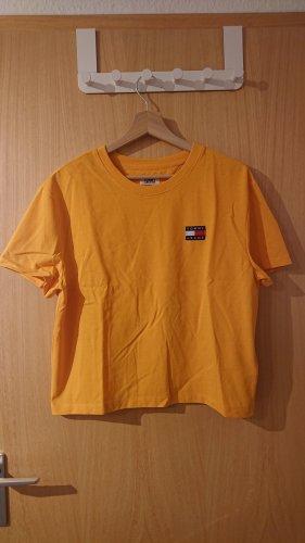 Tommy Hilfiger T-shirt złotopomarańczowy