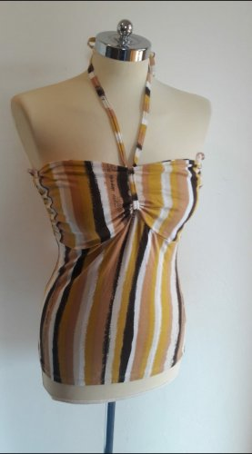 H&M Top z dekoltem typu bandeau żółty