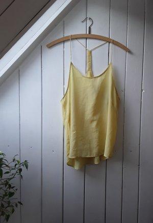H&M Haut à fines bretelles jaune primevère-jaune clair
