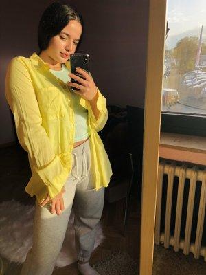 H&M Flanelowa koszula bladożółty