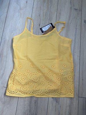 gelbes Vero Moda Top Hämdchen Trägerhemd