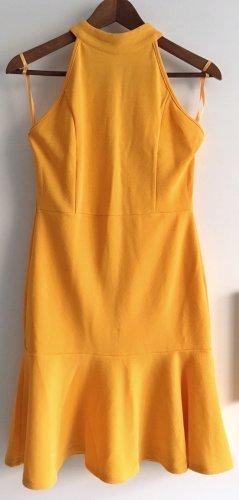 AX Paris Robe à volants orange doré