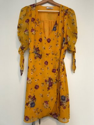 Mango Robe portefeuille orange doré-orange clair