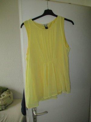 Mango Canotta fitness giallo