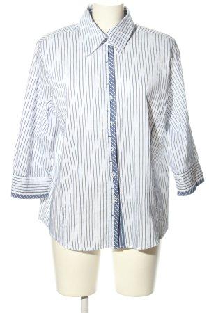 Gelco Hemd-Bluse weiß-blau Streifenmuster Casual-Look