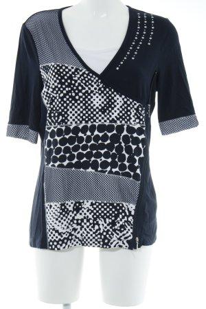 Gelco Shirttunika dunkelblau-weiß Mustermix Casual-Look