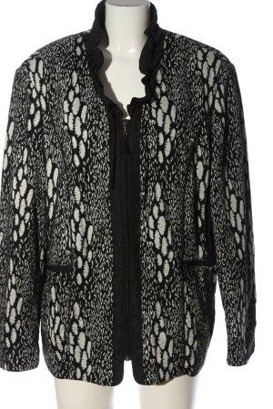 Gelco Übergangsjacke schwarz-weiß abstraktes Muster Casual-Look