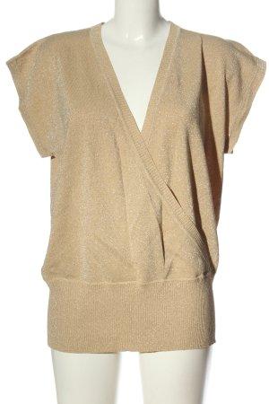 Gelco Kopertowa bluzka kremowy W stylu casual