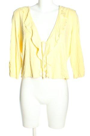 Gelco Cache-coeur jaune primevère style décontracté