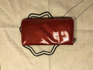 Geldbeutel NEU rot einfach - echtes Leder