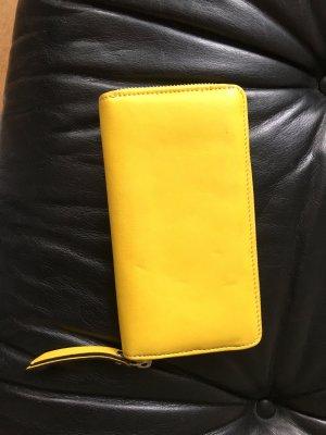 Geldbeutel Portemonnaie abro Gelb Leder Geldbörse