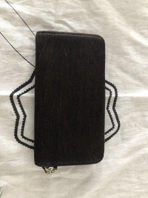 Portemonnee zwart Leer