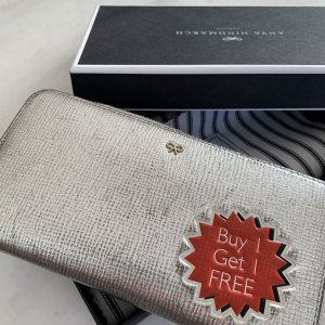 Anya hindmarch Wallet silver-colored-red leather