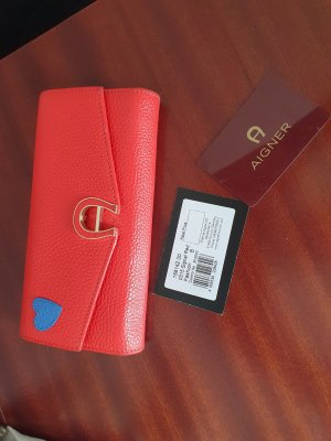 Aigner Wallet bright red