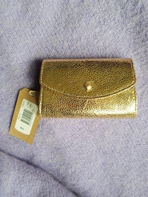 Geldbörse aus Leder in Gold-Farbe von Des Petits Hauts