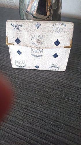 MCM Portefeuille blanc-bleu faux cuir