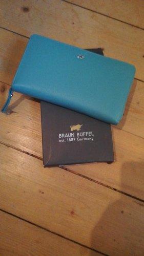 Braun Büffel Portefeuille argenté-turquoise cuir