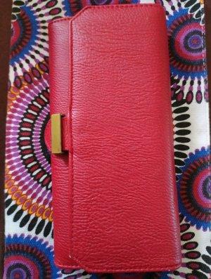 Portefeuille rouge-rouge brique