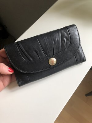 Geldbörse, Portemonnaie, Leder, schwarz