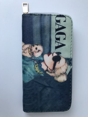 Geldbörse Portmonee Gaga grün grau beige