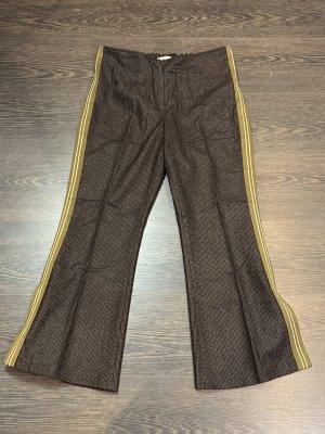 Gembalies Pantalón de pinza marrón-negro-amarillo pálido