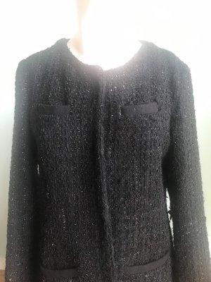 ❤️Gemeinsam Gutes tun: 1/3 Verkaufserlös gehen an die Kindernothilfe❤️ Mantel im Chanel-Stil schwarz