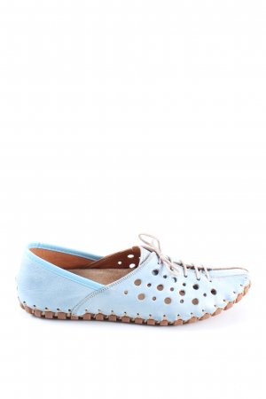 Gemini Lace Shoes blue-brown casual look