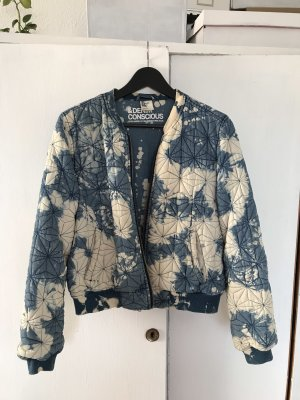 H&M Conscious Collection Bomber Jacket steel blue-natural white