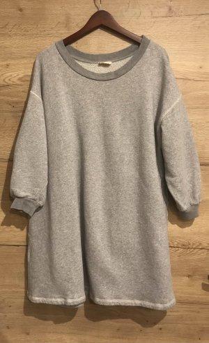 American Vintage Vestido de tela de sudadera gris-gris claro