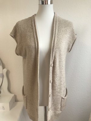 Clarina Short Sleeve Knitted Jacket beige