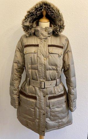 Barbour Manteau en duvet gris brun polyester