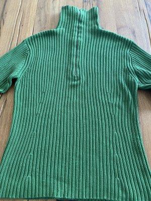 Chaloc Maglione lavorato a maglia verde prato Cotone